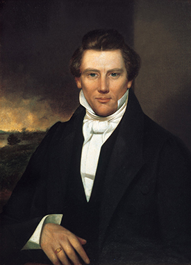 A painting of Joseph Smith, Jr.—the founder of Mormonism