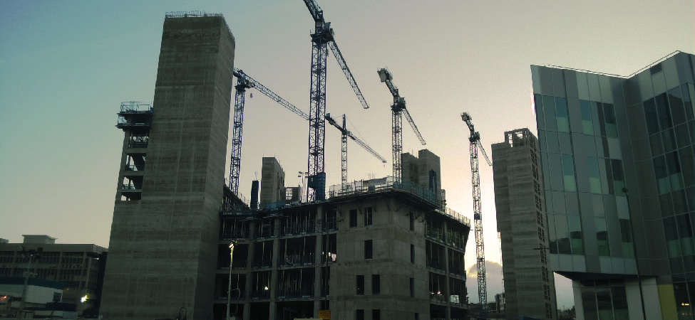This is an image of a building undergoing construction.
