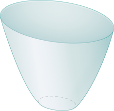 "This figure is a surface. It has an elliptical shape to the top, forming a ""bowl""."
