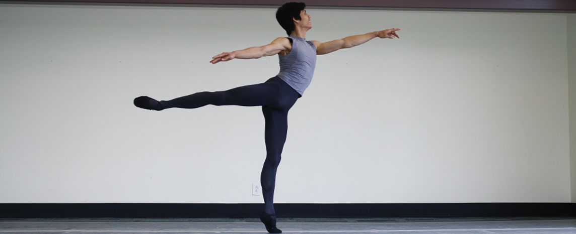 This photograph shows a dancer striking a pose.