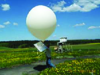This image shows a white balloon that appears to have an attached white card. The balloon is being held by a person in an outdoor setting.