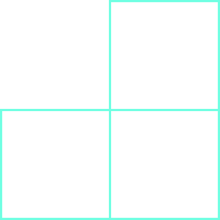 Three squares are shown, in a sideways L shape.
