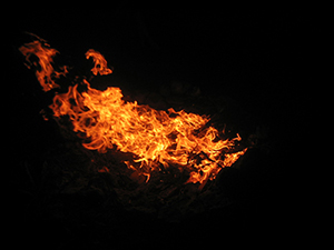 Image of a raging fire..