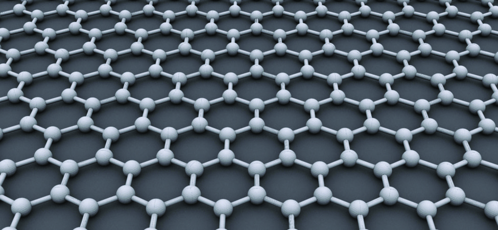 An illustration of the crystalline structure of graphene.