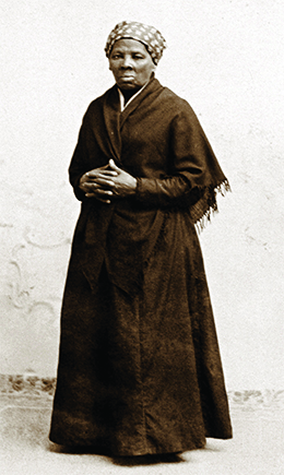 A photograph of Harriet Tubman is shown.