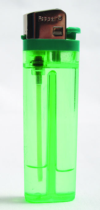 A butane lighter is shown.