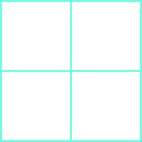 A square is shown comprised of 4 smaller squares.