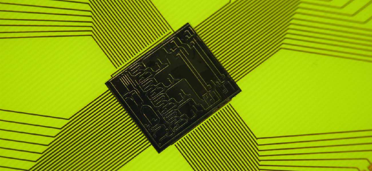 Picture of a computer chip.