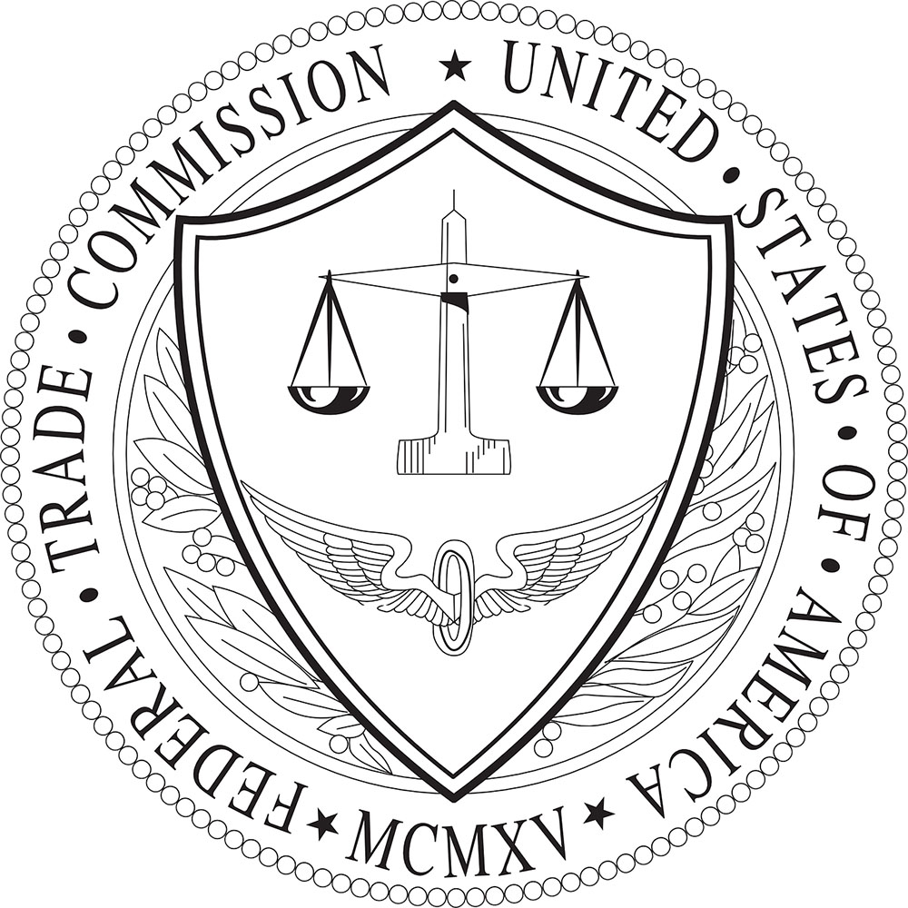 An illustration depicts the seal of the Federal Trade Commission.