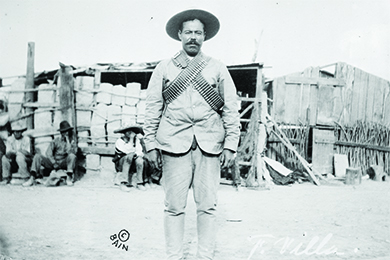 A photograph of Pancho Villa is shown.