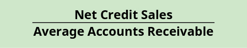 Net Credit Sales / Average Accounts Receivable,