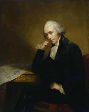 A painting of James Watt is shown.