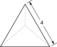This figure is an equilateral triangle with side length of 4 units.
