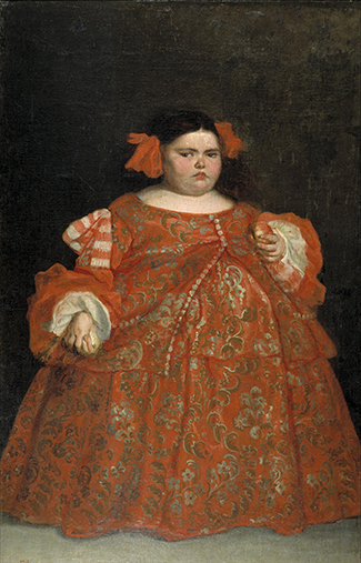 A painting shows Eugenia Martínez Vallejo.