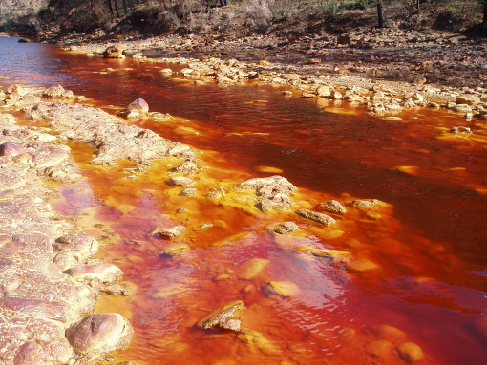 Spain's Rio Tinto. As the name suggests, this river in Spain flows with red water.