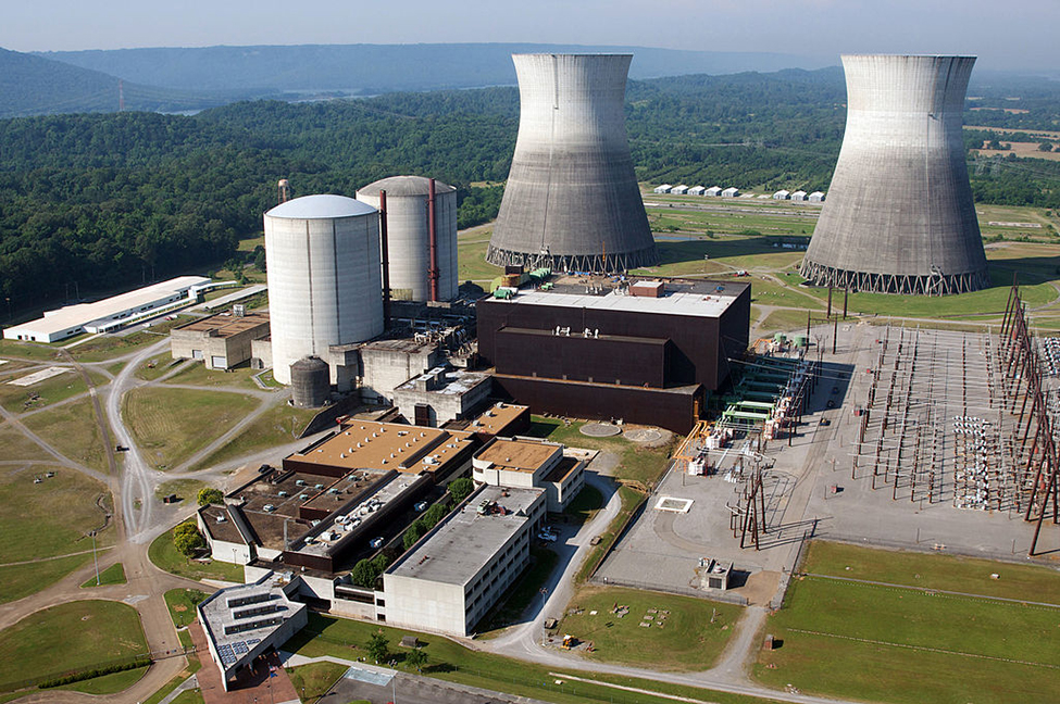 An aerial photograph of The Phillipsburg Nuclear Power Plant.