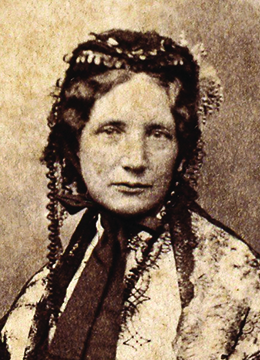 A photograph of Harriet Beecher Stowe is shown.