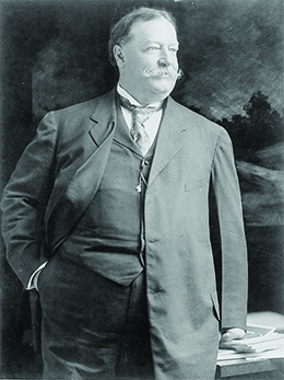A photograph of William Howard Taft is shown.
