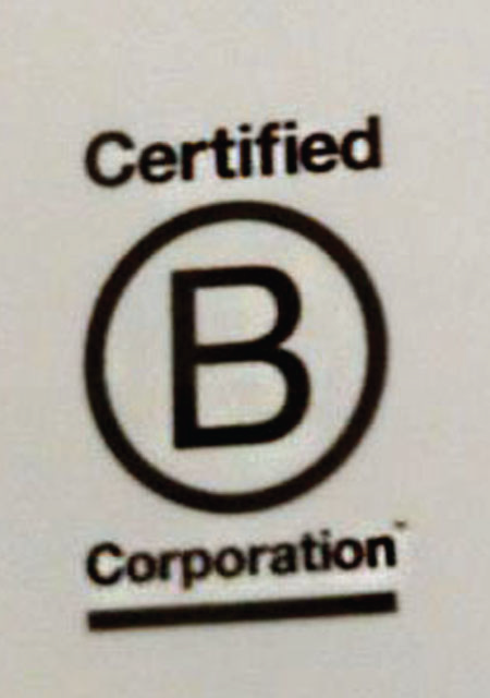B corporation logo showing a capital B in a circle with the word Certified above it and Corporation (underlined) below it.