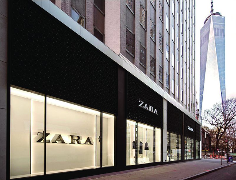 Photo of a Zara store front.